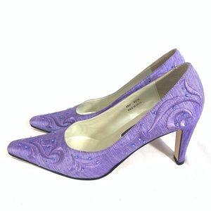 J.Renee Lavender Fabric Heels